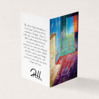 "Abstract Art Designer 25Pk. Note Cards ""Window"""