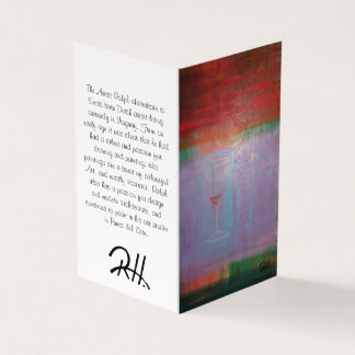 "Abstract Art Designer 25Pk. Note Cards""Wine Glass"" Card"