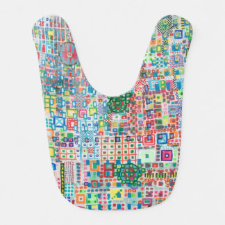 "Abstract Art Designer Baby Bibs ""City"""