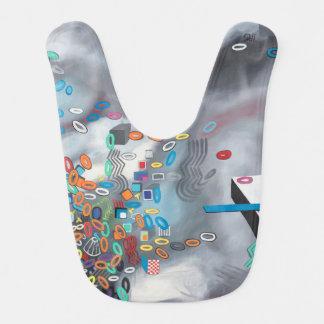 "Abstract Art Designer Baby Bibs ""Pool Day"""