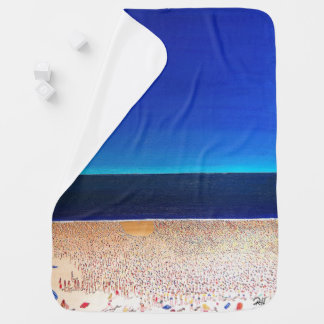 "Abstract Art Designer Baby Blanket ""Beach"""