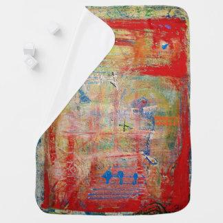 "Abstract Art Designer Baby Blanket ""Cross"""