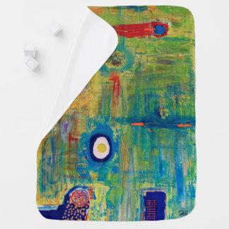 """Abstract Art Designer Baby Blanket """"Egg"""""""