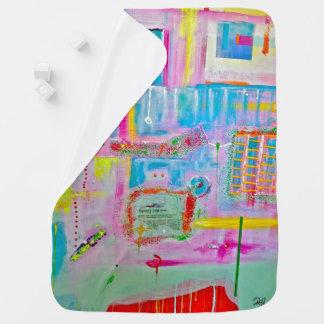 """Abstract Art Designer Baby Blanket """"Mr. Boules"""""""