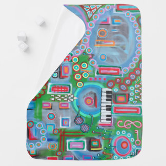 "Abstract Art Designer Baby Blanket ""Music"""