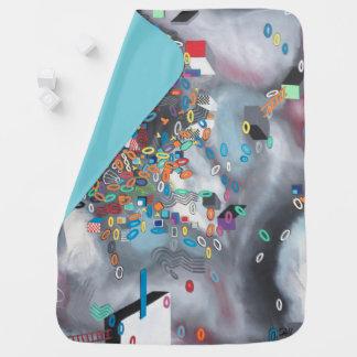 "Abstract Art Designer Baby Blanket ""Pool Day"""
