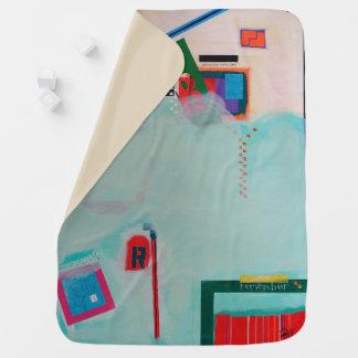 "Abstract Art Designer Baby Blanket ""Remember"""