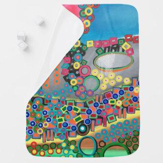 """Abstract Art Designer Baby Blanket """"Shower"""""""