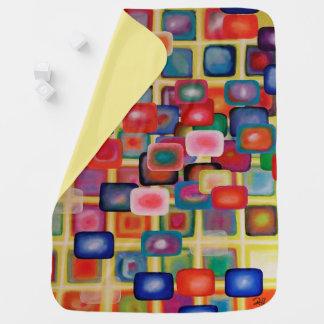 "Abstract Art Designer Baby Blanket ""Square Grid"""