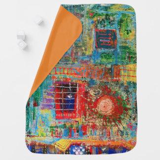 """Abstract Art Designer Baby Blanket """"Sunburst"""""""