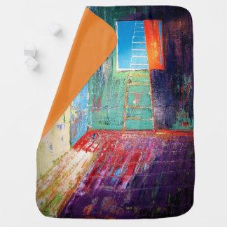 "Abstract Art Designer Baby Blanket ""Window Ladder"""