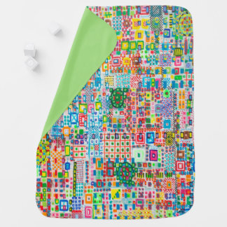 "Abstract Art Designer Baby Blankets ""City"""