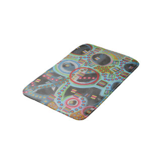 "Abstract Art Designer Bath Mat ""Blackhole"""