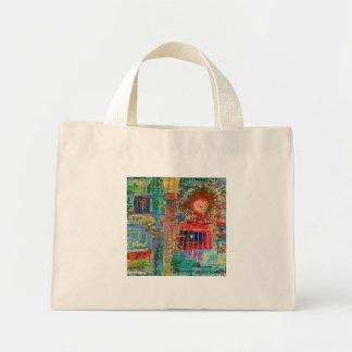 "Abstract Art Designer Canvas Tote Bag ""Sunburst"""