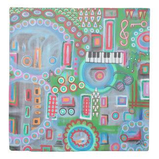 """Abstract Art Designer Duvet Cover """"Music"""""""