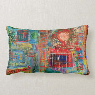 "Abstract Art Designer Lumber Pillow ""Sunburst"""