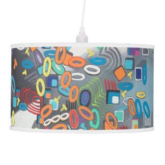 "Abstract Art Designer Pendant Lamp ""Pool Day"""