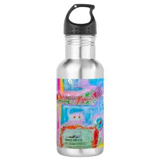 """Abstract Art Designer Water Bottle """"Mr Boules"""""""