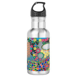 "Abstract Art Designer Water Bottle ""Shower"""