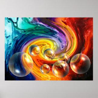 Abstract Art Digital Design Poster