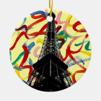 Abstract Art-Eiffel Tower Ornament