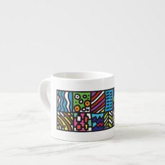 Abstract art espresso mug