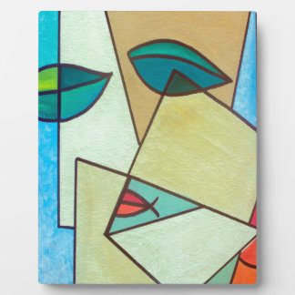 abstract art face plaque