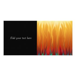 Abstract Art - Fire - Background Flames Photo Greeting Card