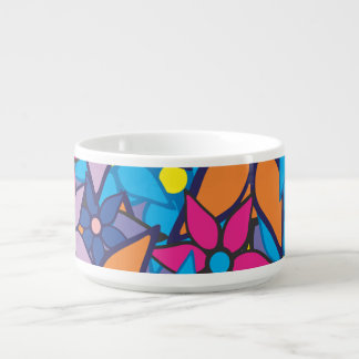 Abstract Art Floral Pattern #4 Chili Bowl