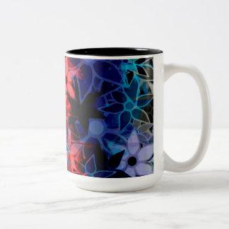 Abstract Art Flower Pattern 2 Coffee Mugs