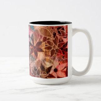 Abstract Art Flower Pattern 3 Coffee Mug