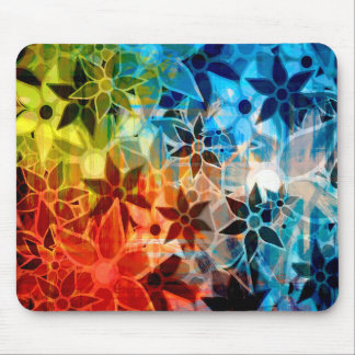 Abstract Art Flower Pattern 4 Mouse Pads