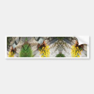ABSTRACT ART FLOWERS BUMPER STICKER
