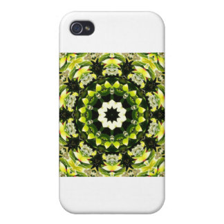 ABSTRACT ART FLOWERS iPhone 4/4S CASE