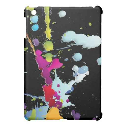 Abstract Art for : Paint Splashes & Drips Cover For The iPad Mini