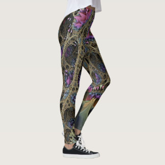 Abstract ART - Fractal FLORAL FANTASY WORLD Leggings