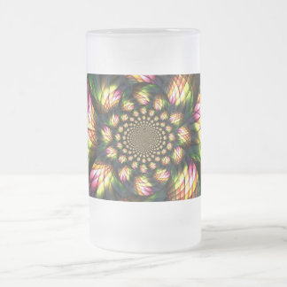 ABSTRACT ART FROSTED GLASS MUG