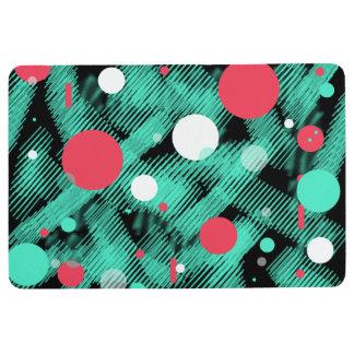 Abstract Art Funky Circles Floor Mat