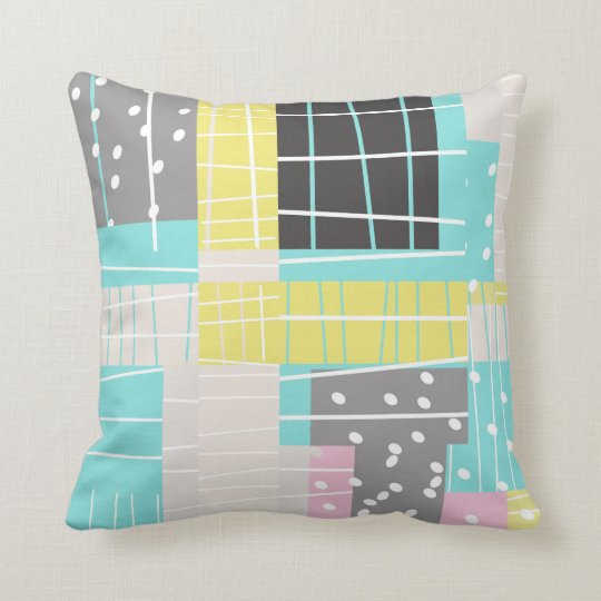 abstract art geometric original design pillow