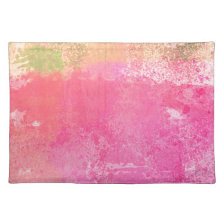 Abstract Art Grunge Watercolor Print Placemat