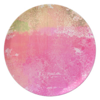 Abstract Art Grunge Watercolor Print Plate