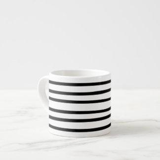 Abstract Art Hand Drawn Black White Stripe Trendy Espresso Cup