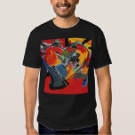 Abstract art heart painting tee shirts