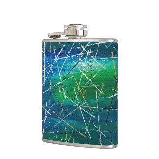 Abstract Art Hip Flask