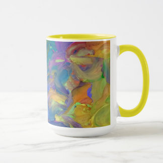 Abstract Art in Frosting Mug
