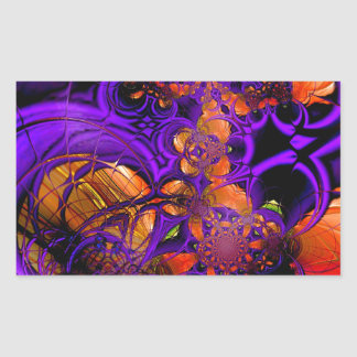 Abstract Art Metal Purple Orange Crochet Zizzago