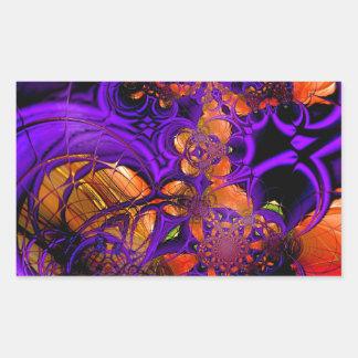 Abstract Art Metal Purple Orange Crochet Zizzago