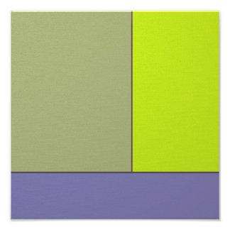 Abstract Art Modern Geometric Color Fields Retro Photographic Print