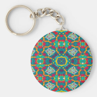 Abstract Art Mosaic Pattern Keychain