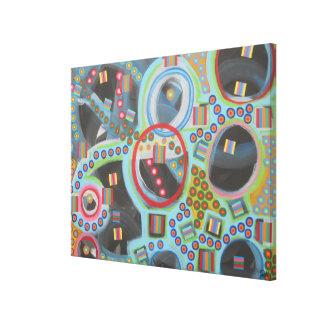 """Abstract Art on 59"""" X 39"""" Canvas """"Blackhole"""""""